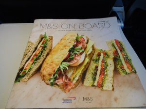 British Airways Buy on Board Menu