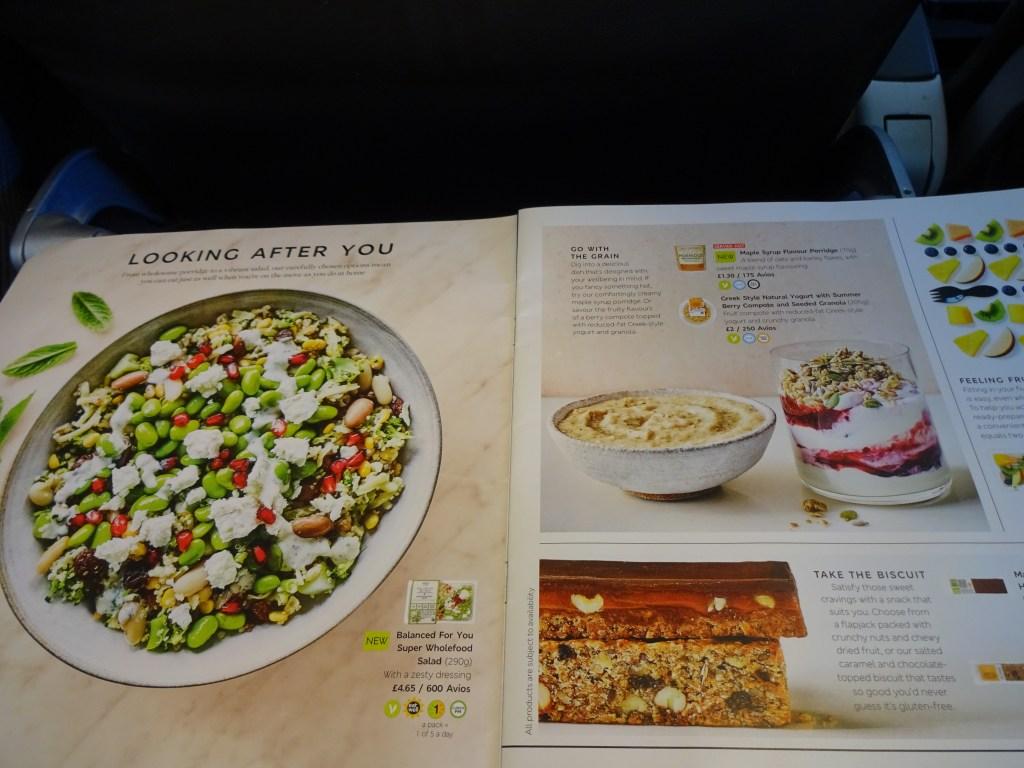 Healthy Eating Menu British Airways Buy on Board