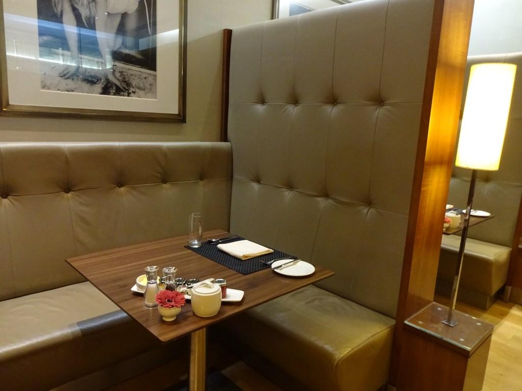 British Airways Concorde Room Dining Booths