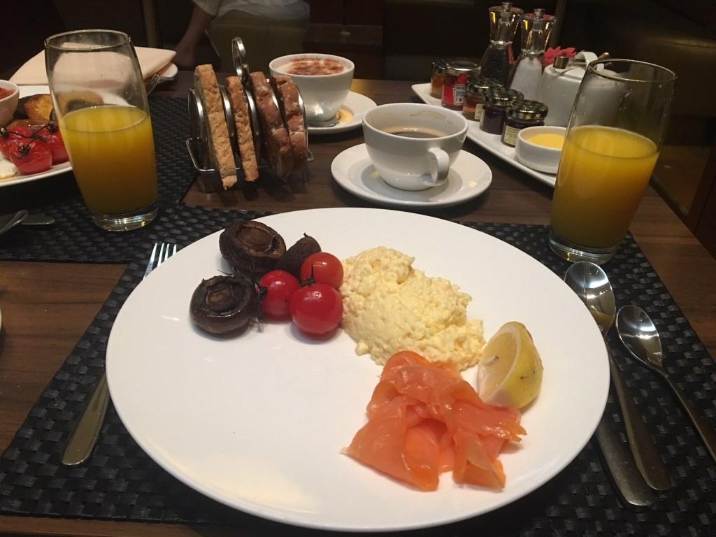 British Airways Concorde Room Smoked Salmon with Scrambled Eggs