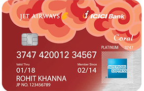 Jet Airways ICICI Bank Coral Amex Credit Card