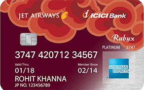 Jet Airways ICICI Bank Rubyx Amex Card