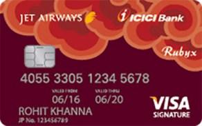 Jet Airways ICICI Bank Rubyx Visa Card