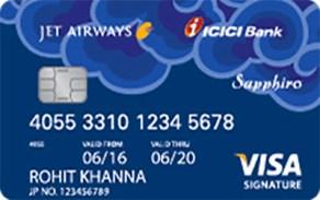 Jet Airways ICICI Bank Sapphiro Visa Credit Card