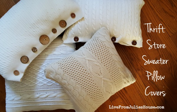 Thrift Store Sweater Pillow Tutorial - Live from Julie's House
