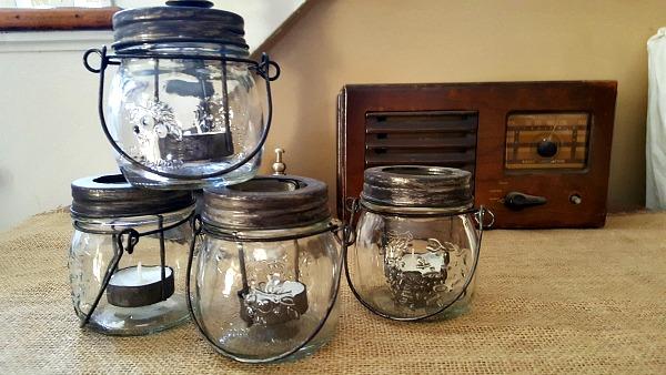 mason jar votive holders from Michaels