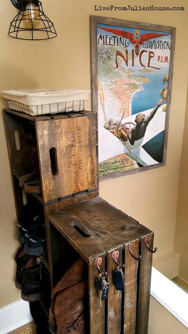DIY Wooden Crate Shoe Rack Tame