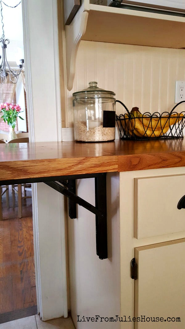 folding butcher block counter