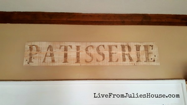 Pallet wood vintage patisserie sign