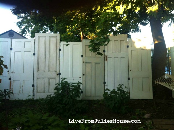 Fence made from old doors