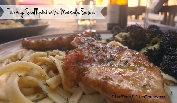Easy Turkey Scallopini with Marsala Sauce & Roasted Broccoli
