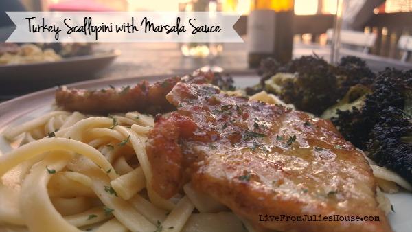 Easy Turkey Scallopini with Marsala Sauce & Roasted Broccoli
