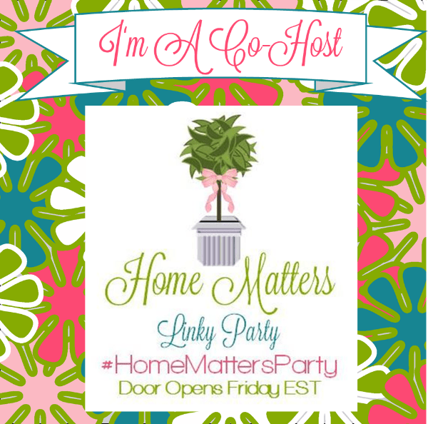 Home Matters Link Party - Join me every Friday in June for the Home Matters Link Party, where you can share what you've been working on and get inspired by other talented bloggers.