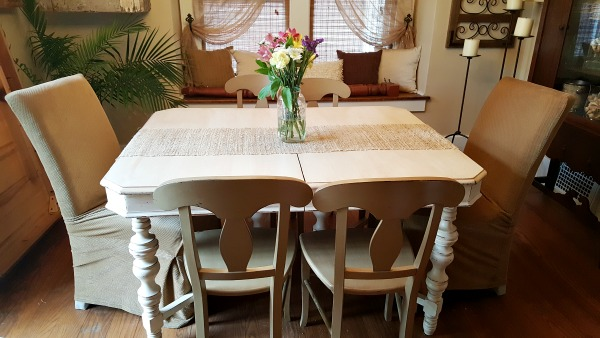 shabby vintage dining room table