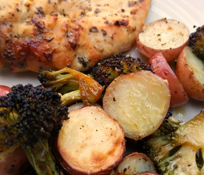 One Pan Chicken and Roasted Vegetables