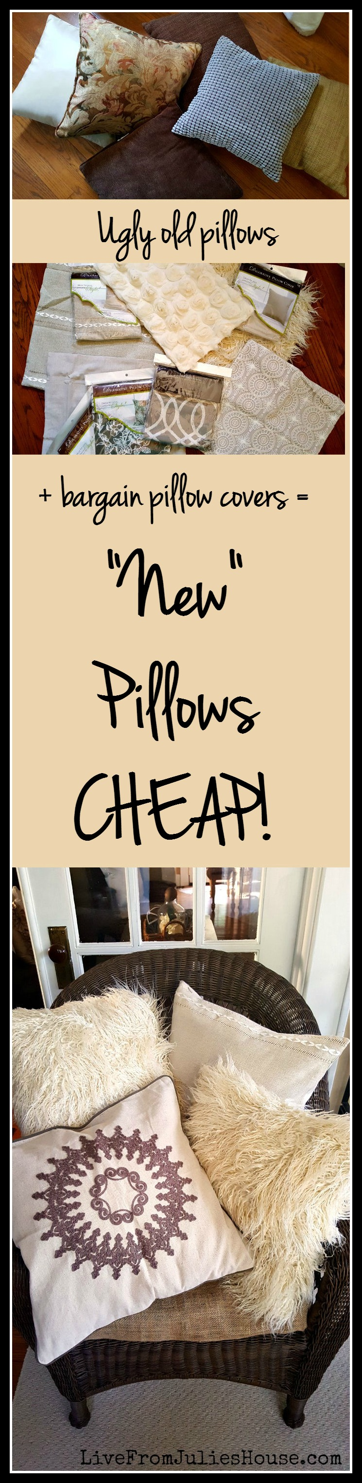 New Throw Pillows - CHEAP! Want to freshen up your throw pillows without spending a ton of cash? Check out Hobby Lobby's awesome pillow covers - some are less than $5!
