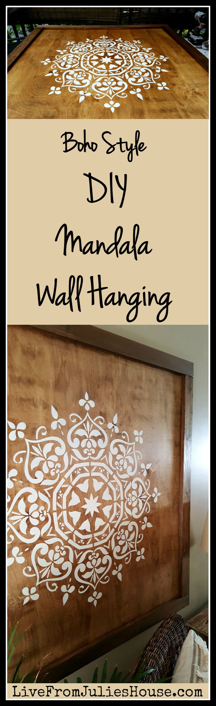 Diy mandala wall hanging live from julies house boho style diy mandala wall hanging want to add a dramatic boho style piece of amipublicfo Images
