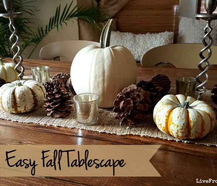Fast & Easy Fall Tablescape