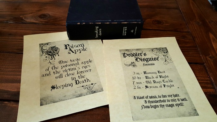 Halloween Decor on the Cheap: Spooky Spell Books - Old books make a great addition to a spooky Halloween vignette! Today I'm sharing 3 fast and easy ways to use spooky spell books in your holiday decor.