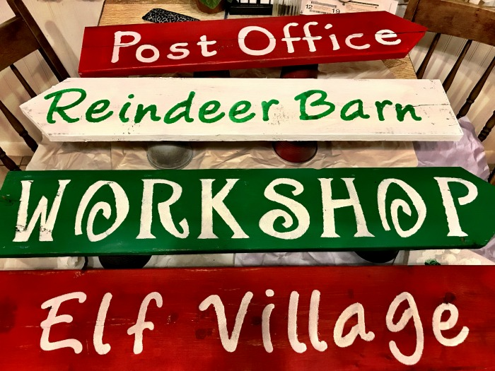 DIY North Pole Directional sign