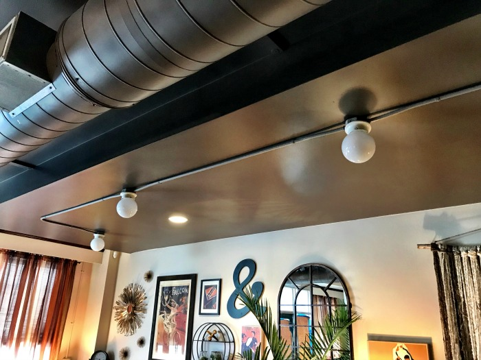 Diy drum chandelier live from julies house ugly ceiling lights mozeypictures Images