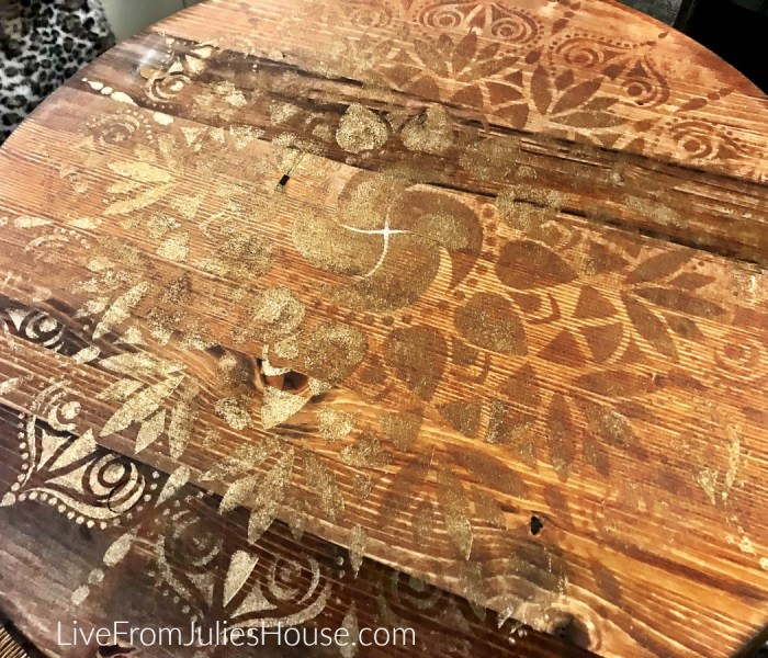Mandala Stenciled Tables