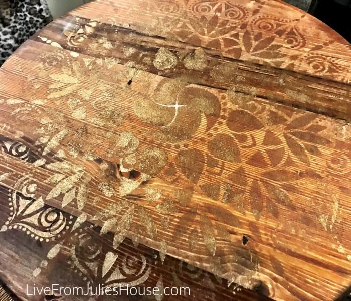 Mandala Stenciled Tables