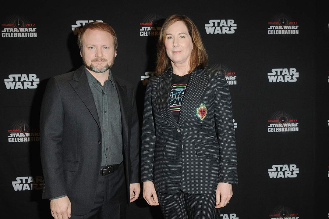 Rian Johnson and Kathleen Kennedy