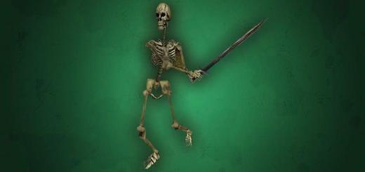 Монстры нежить из Готики 1 - Скелет