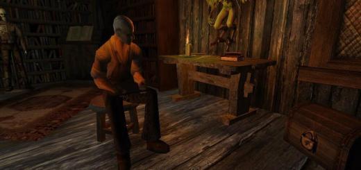 Алхимик Игнац из портового квартала сидит на стуле