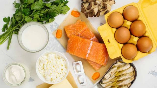 egg, salmon fish, milk,curd to get vitamin D