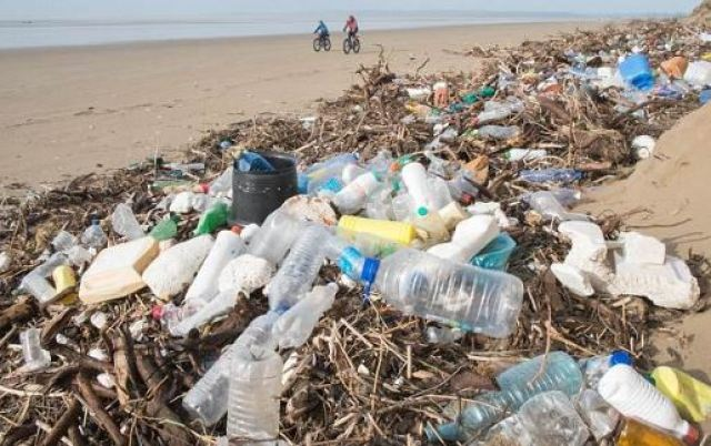 poor plastic management in natural areas