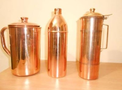 Store water and liquids in copper vessels