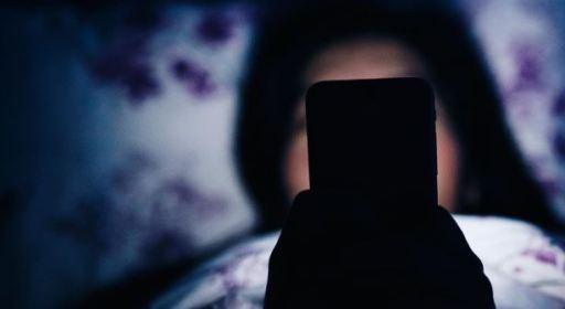 using mobile phones in social media , not sleeping