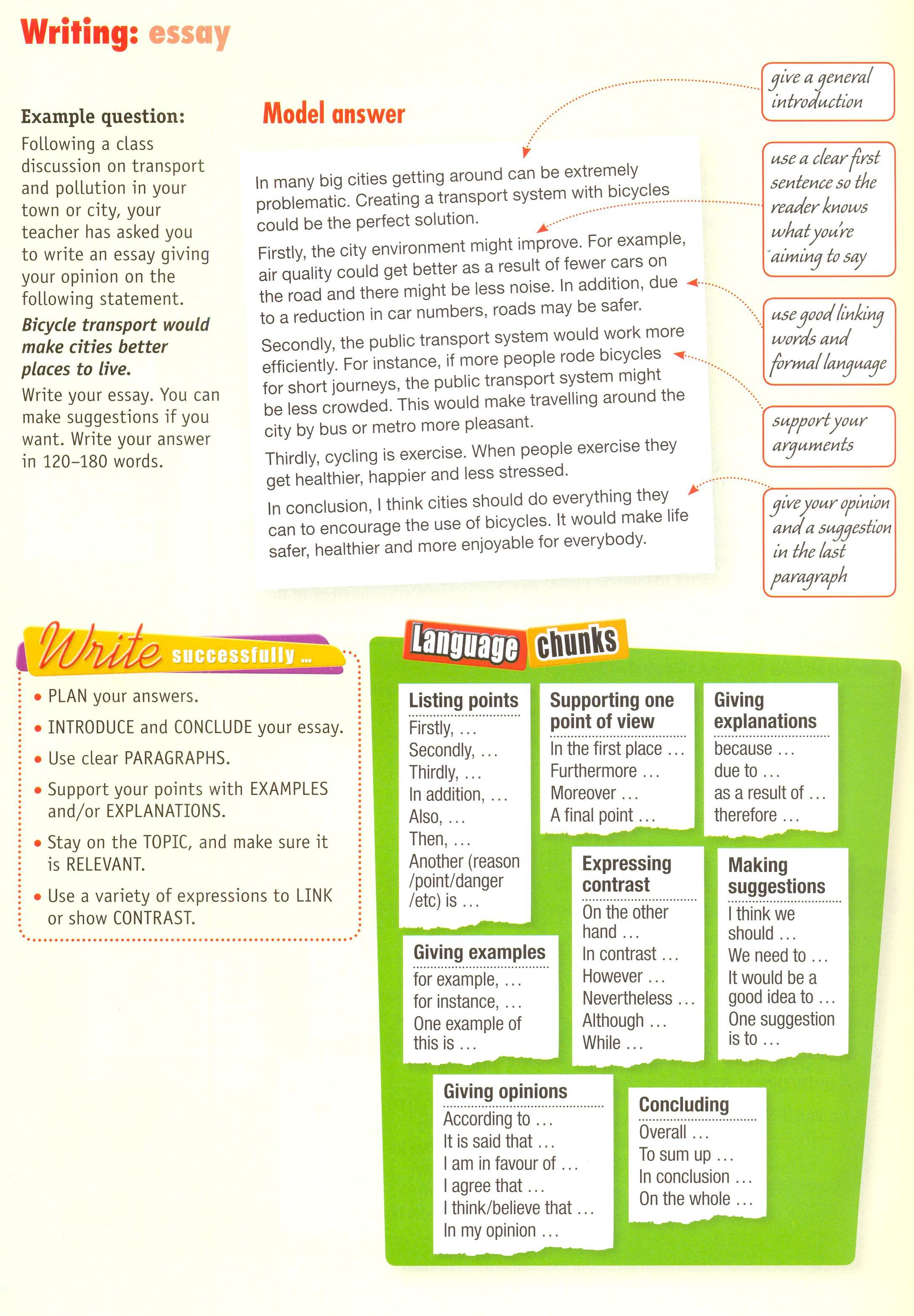 Essay Connectors English