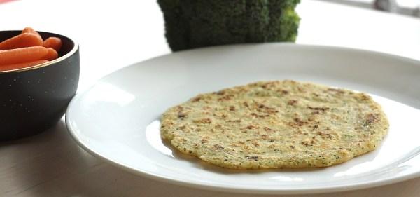 Rava Uttapam aka Semolina Pancakes on a plate