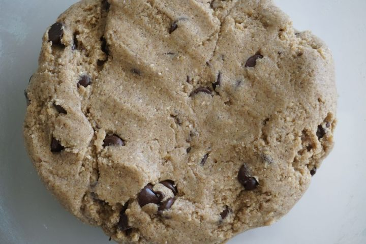 final cookie dough with chocolate chips