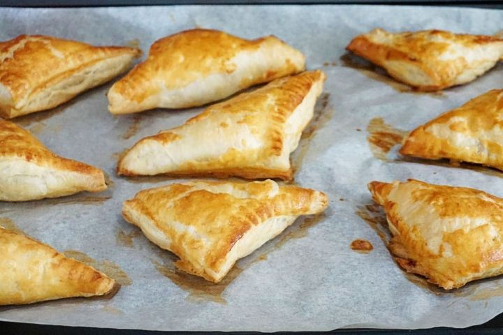 Baked Puffs on Parchment Paper