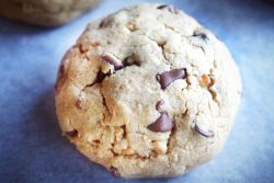 Healthier DoubleTree Cookie on parchment paper