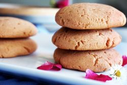 Rose & Cardamom cookies stacked