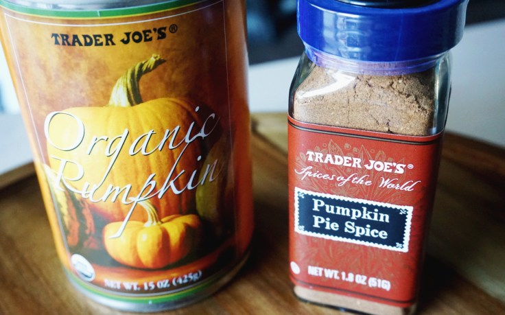 pumpkin puree can and pie spice bottle