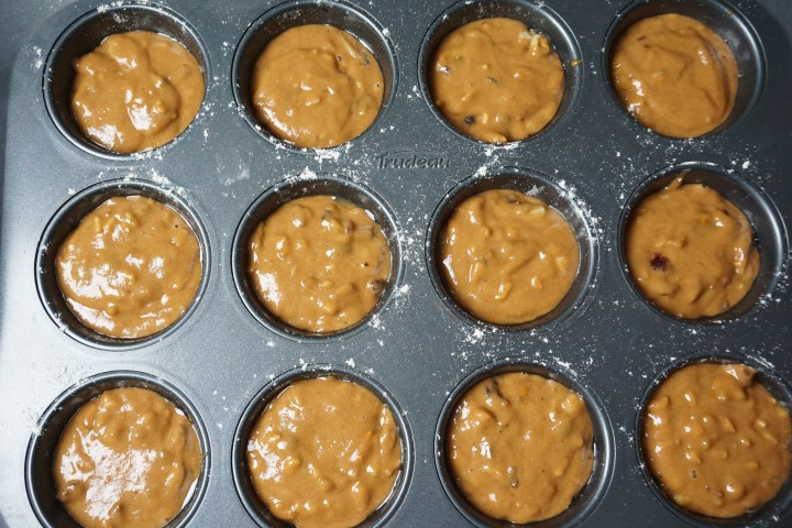 batter in muffin tins