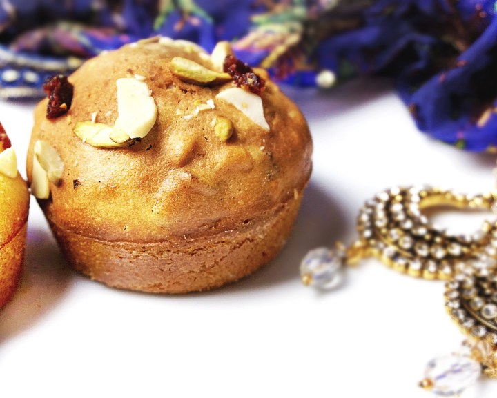 diwali muffin with trinkets
