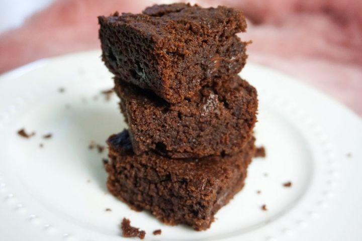 eggless brownie recipe fudgy brownies stack