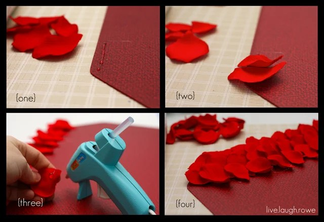 Rose Petal Placemat Step by Step