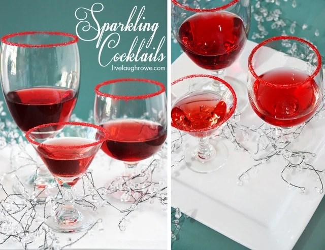 Sparkling Cocktails with livelaughrowe.com
