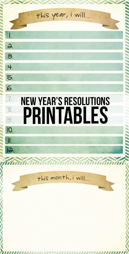 Whether making resolutions for the year or tackling them each month, these New Year Resolutions printables will help you stay on track! livelaughrowe.com