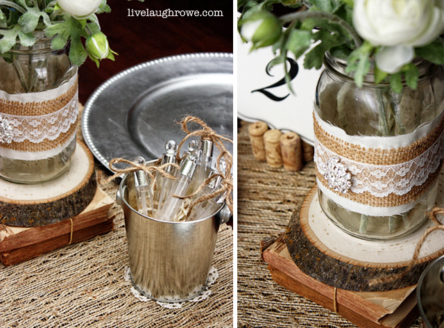 Vintage Wedding Tablescape Using Corks Burlap And More