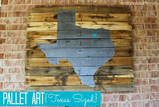 Texas Pallet Art