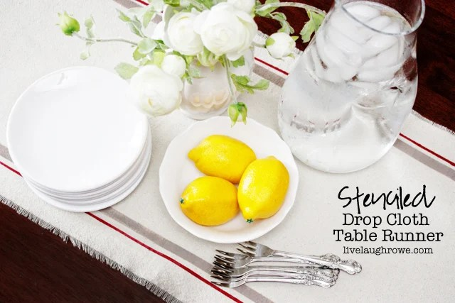 DIY Drop Cloth Table Runner with livelaughrowe.com